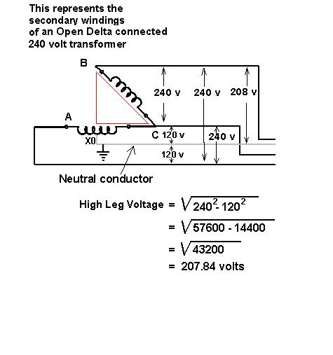 Open Delta Transformer Connection http://forums.mikeholt.com/showthread.php?t=144067