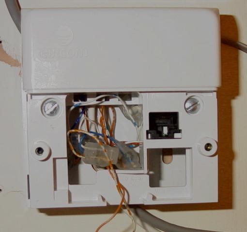 Front panel including ADSL splitter : adsl socket wiring - yogabreezes.com
