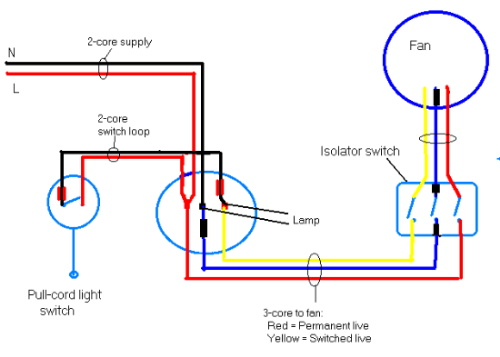 Wiring Diagram Exhaust Fan Switch : Bath fan light heat wiring diagrams fans