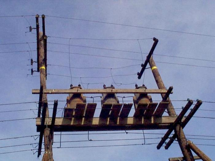 Stacked H Frame Electrical Poles : Electrician talk professional electrical contractors