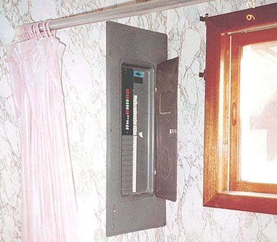 Circuit Breaker Box in Bathroom? - DoItYourself.com Community Forums