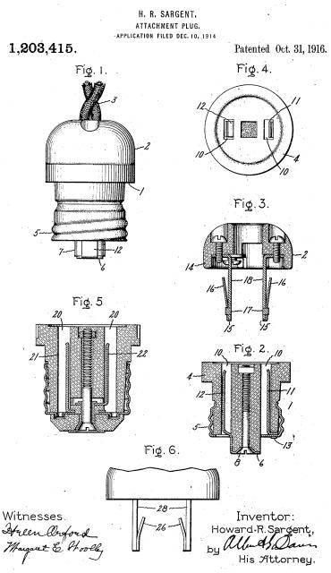 Various plug and outlet patents