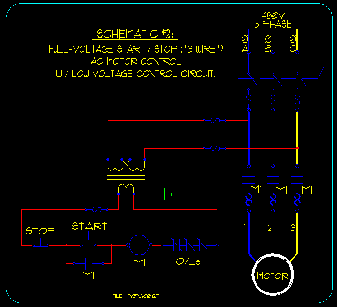 128 basic start stop ac motor control schematics ecn electrical forums 208 3 Phase Motor Wiring at reclaimingppi.co