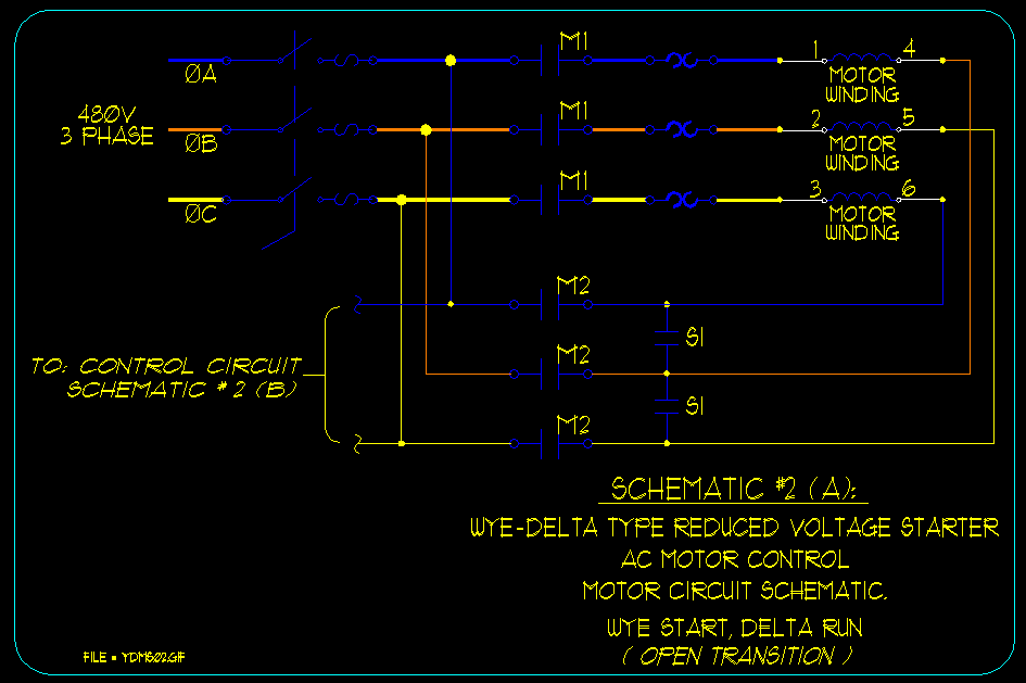 Wye / Delta Motor Starting Schematics - ECN Electrical Forums Wye Delta Starter Wiring Diagram on wye delta starter timer, wye motor wiring, wye start delta run diagram, wye-delta transformer wiring diagram, wye-delta motor control diagram, wye delta connection diagram, star delta starter wiring diagram, wye delta schematic diagram, wye electrical diagram, delta and wye diagram,