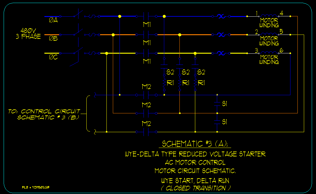 Wye    Delta Motor Starting Schematics