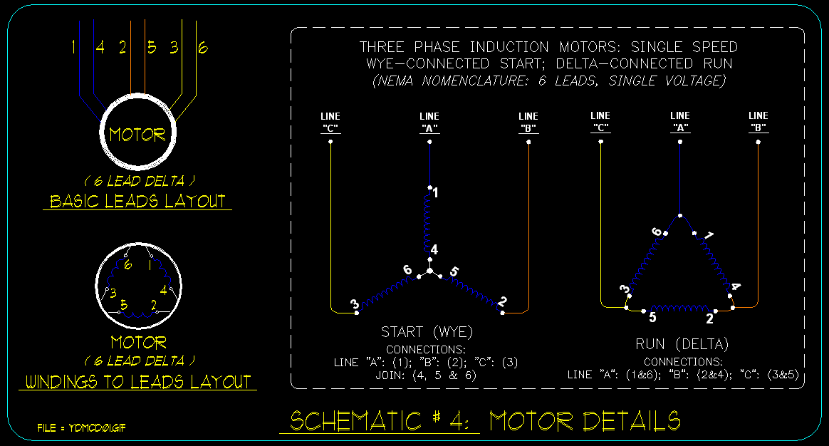 wye    delta connection detail schematics