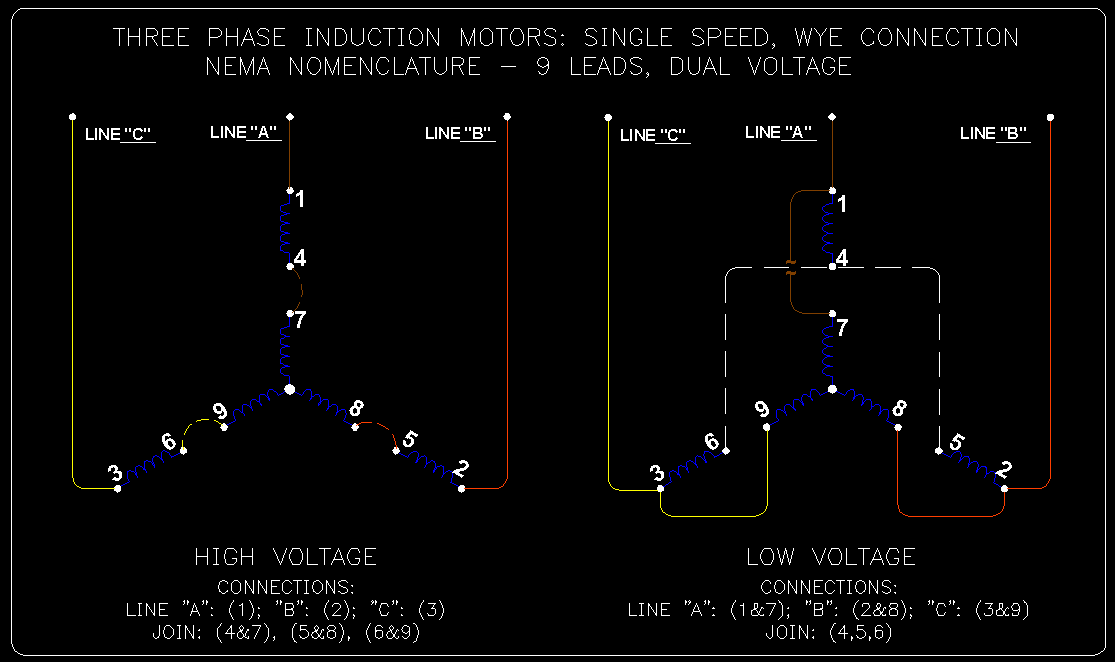wye delta connection detail schematics ecn electrical forums linked image