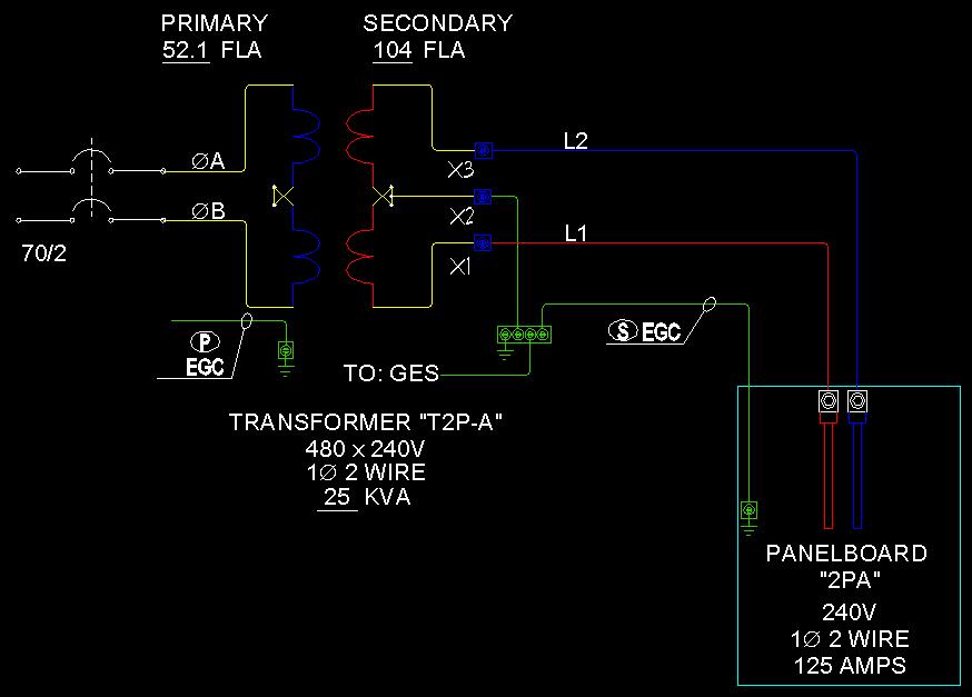 217 transformers & feeders 1 phase 2 wire ecn electrical forums step down transformer 480v to 120v wiring diagram at n-0.co