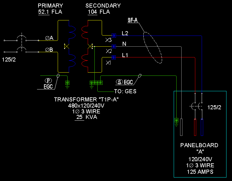 transformer issue and hello ecn electrical forums 1 480v x 120 240v 1 phase 3 wire isolated transformer