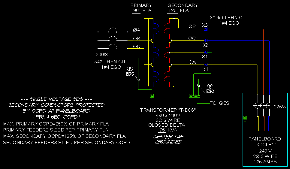Electrical service types and voltages further 41778 240 V Three Phase What Voltage Phase To Phase And Phase To Ground as well 480 Volt 3 Phase Transformer Wiring Diagram additionally Star Delta Transformer Connection together with 480v 3 Phase Corner Grounded Delta 120585. on corner grounded 3 wire delta