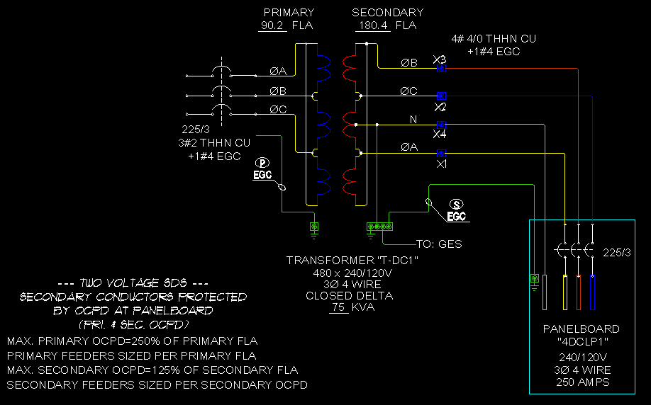 [ANLQ_8698]  Transformers & Feeders:3P 4Wire Closed Delta - ECN Electrical Forums   Delta 3 Phase Panelboard Wiring Diagram      Electrical Contractor Network
