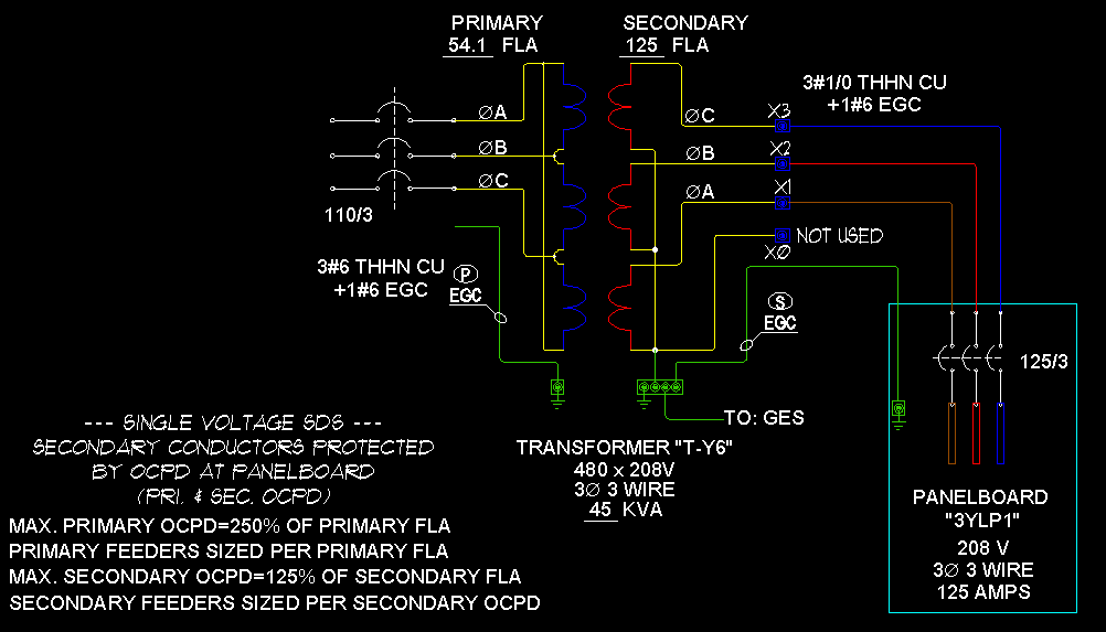 251 transformers & feeders 3 phase 3 wire wye ecn electrical forums Basic Electrical Wiring Diagrams at virtualis.co