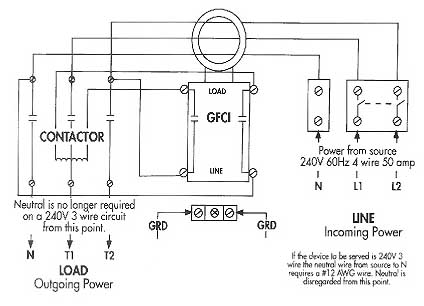 GFCI_Relay  Wire Gfi Wiring Diagrams on