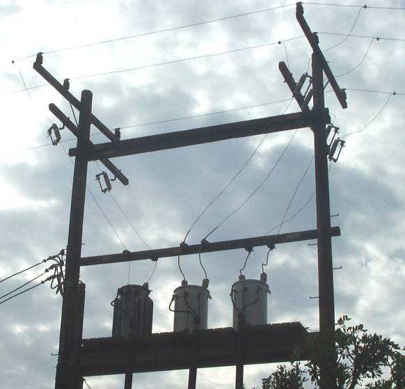 Stacked H Frame Electrical Poles : Old delta xfmr bank ecn electrical forums